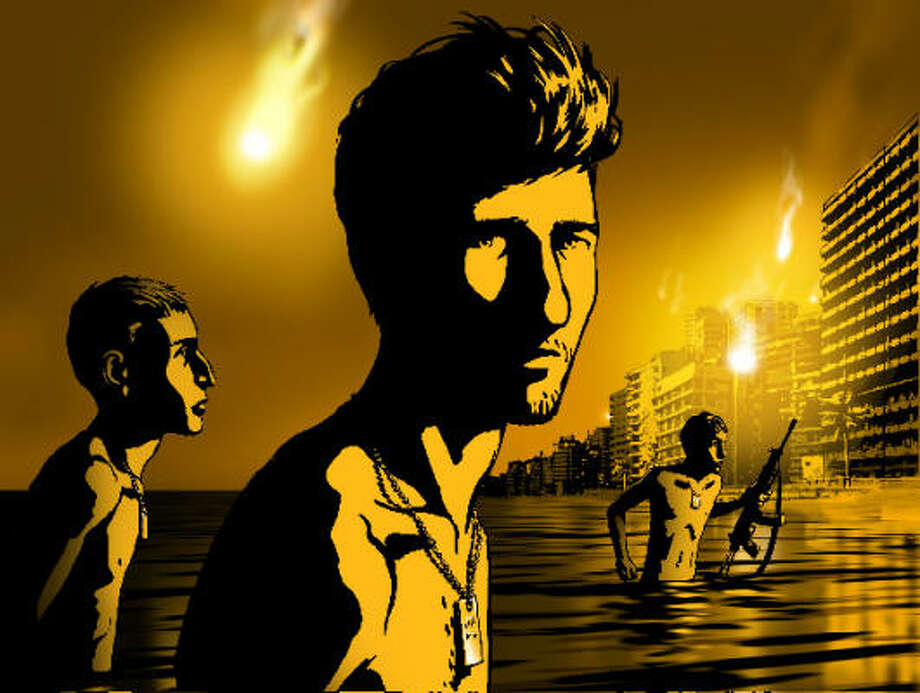 In Waltz with Bashir, a former Israeli soldier dreams about his past, including a vision of a beach in Lebanon with floating bodies and soldiers who emerge from the water naked. Photo: Ari Folman And David Po