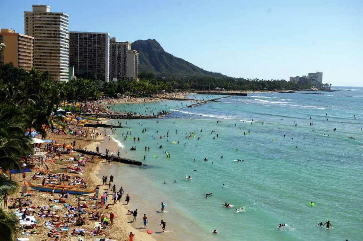 While we're in Hawaii, check out Waikiki beach in Honolulu.