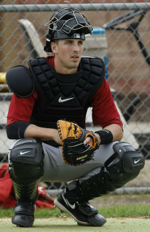Astros catching prospect Jason Castro is starting the year in Class AAA Round Rock, but might not be there all season. Photo: Julio Cortez, Chronicle