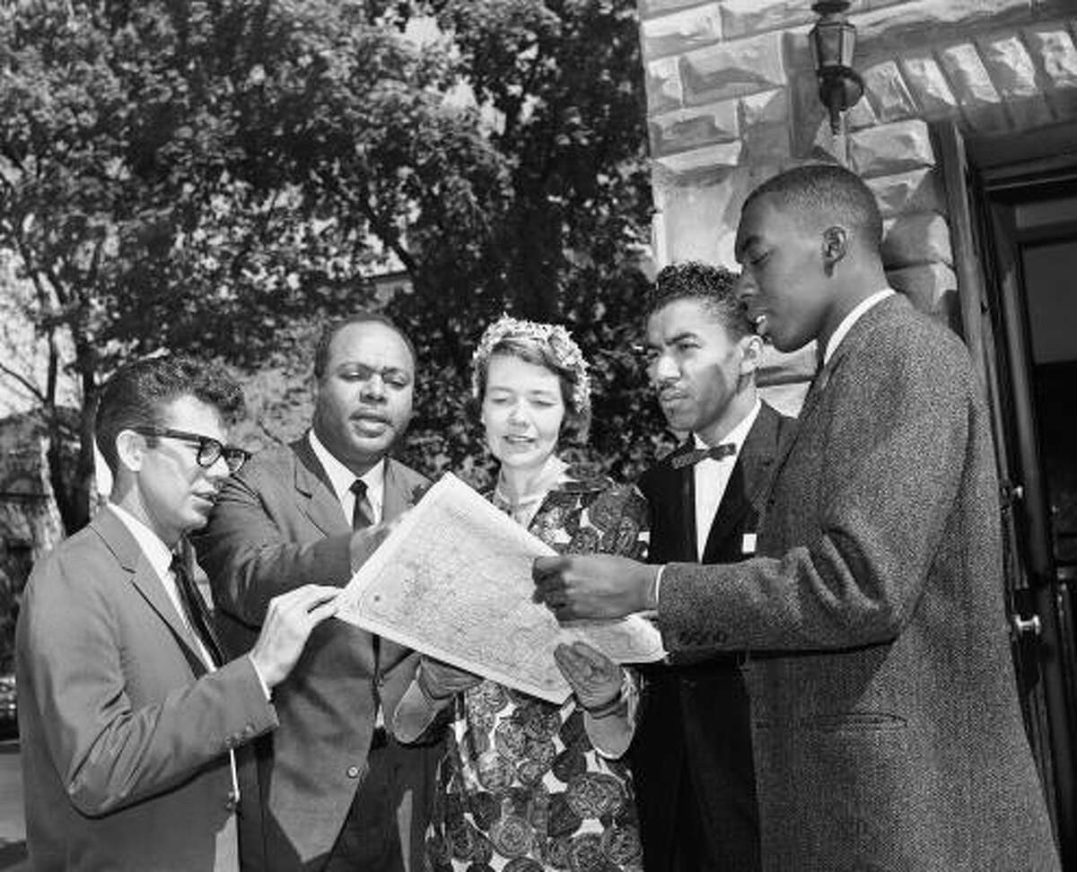 Members of the Congress of Racial Equality (CORE) in Washington, D.C., prepare for their journey.