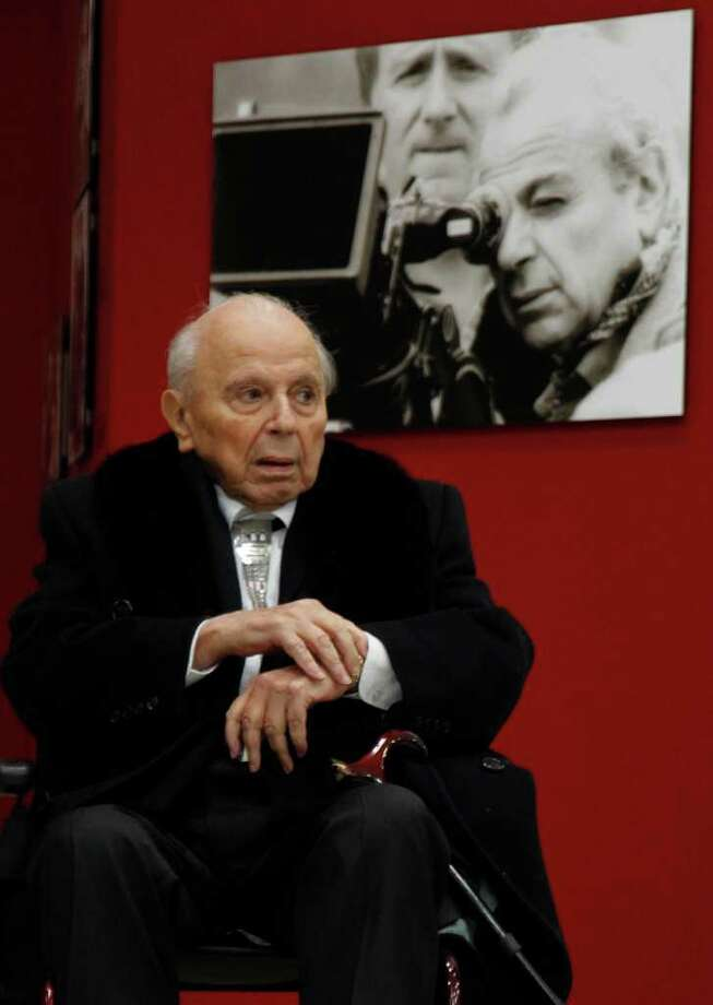 "FILE - In this March 9, 2010 file photo Cyprus-born filmmaker Michael Cacoyannis is seen during an event in Athens. Cacoyannis who directed the 1964 movie ""Zorba the Greek,"" starring Anthony Quinn, has died at an Athens hospital on Monday, July 25, 2011. He was 89. (AP Photo/Eurokinissi, File) GREECE OUT Photo: Eurokinissi / AP"