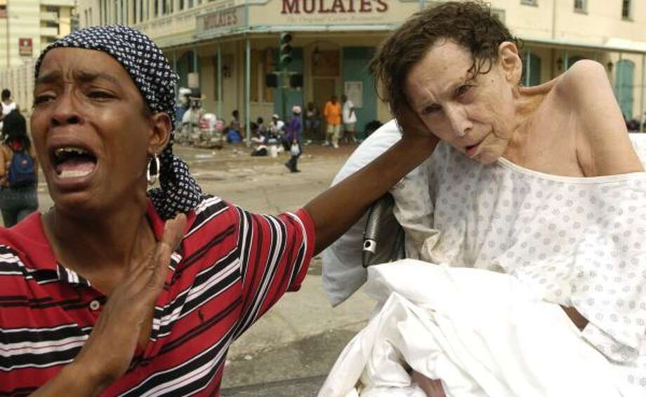 The streets were a mass of misery on Sept. 1, 2005. Photo: MELISSA PHILLIP, HOUSTON CHRONICLE