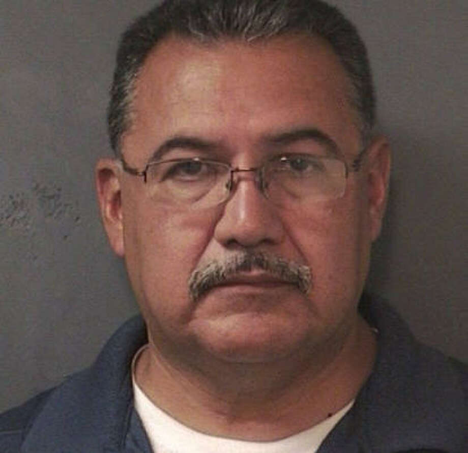 Frank Aguilar, 52, is free on a $1,500 bond after being arrested Wednesday for assault of a family member, a class A misdemeanor, according to court records. Photo: Harris County Sheriff