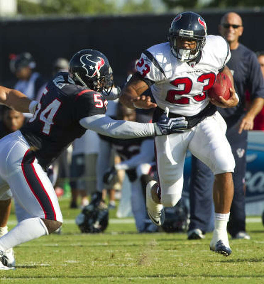 The Texans' running back competition will serve as a focus of the preseason games. Photo: Brett Coomer, Chronicle