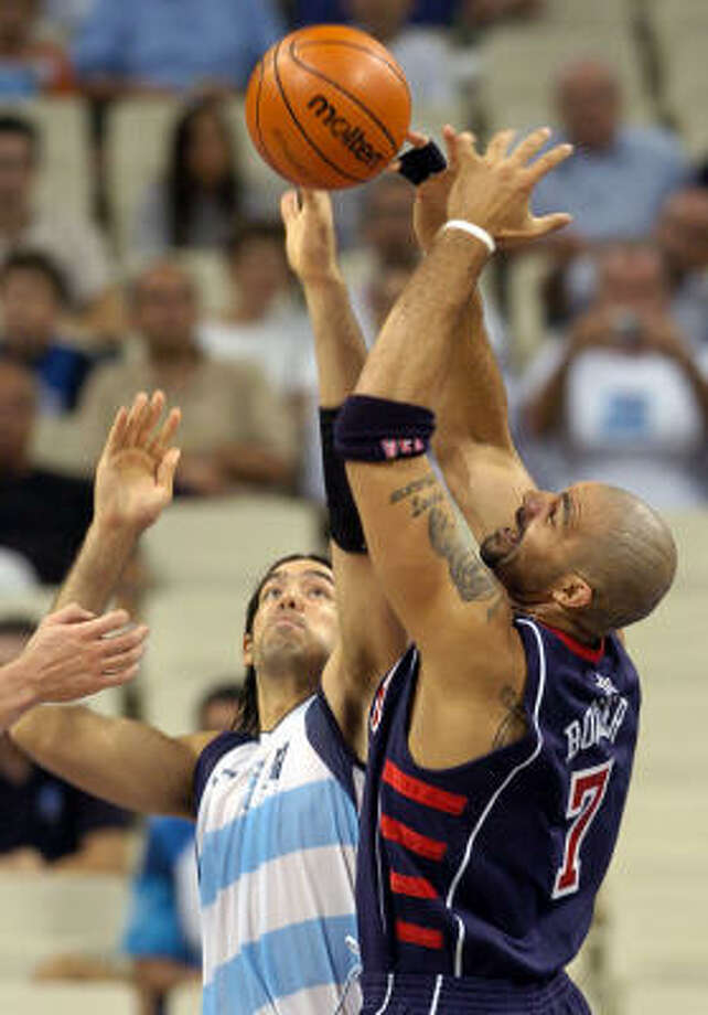 Argentina's Luis Scola has gone toe-to-toe with NBA stars like Carlos Boozer in international play. Photo: Chronicle File Photo