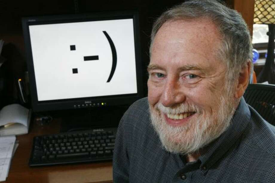 Scott Fahlman, a professor at Carnegie Mellon University, posted the first emoticon at 11:44 a.m. 25 years ago. Photo: GENE J. PUSKAR, ASSOCIATED PRESS