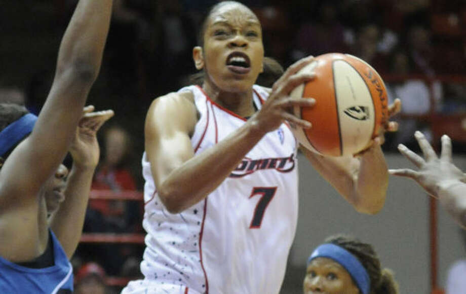 Tina Thompson and the Comets won four championships in Houston. Photo: Steve Ueckert, Houston Chronicle