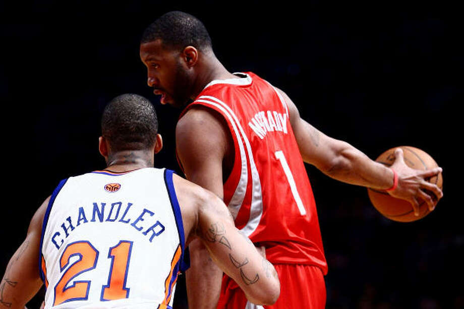 Rockets guard Tracy McGrady said Monday he plans to play Tuesday against the Chicago Bulls at Toyota Center. Photo: Chris McGrath, Getty Images