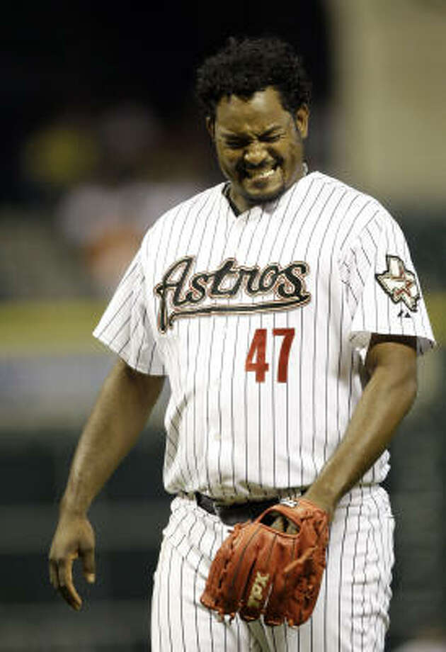 Astros reliever Jose Valverde was placed on the 15-day disabled list Tuesday a week after suffering a strained right calf. Photo: David J. Phillip, AP