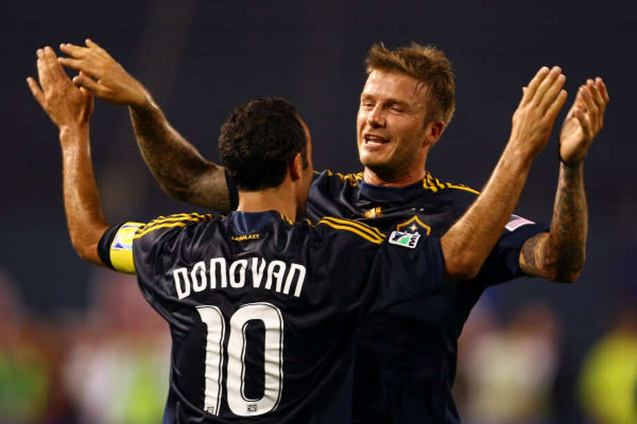 While David Beckham, right, is the star attraction on the Galaxy, Landon Donovan could be their best player. Photo: Chris McGrath, Getty Images