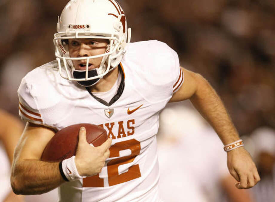 Colt McCoy and the Longhorns look to avoid an upset like Nebraska suffered in 1996's Big 12 title game. Photo: Karen Warren, Chronicle