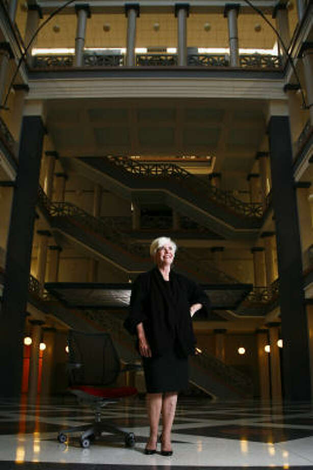 """Patricia Oliver, UH's dean of architecture, says that all architecture programs are the same, but """"Houston is a particular kind of city, with no zoning. That changes the game."""" Photo: Michael Paulsen, Chronicle"""