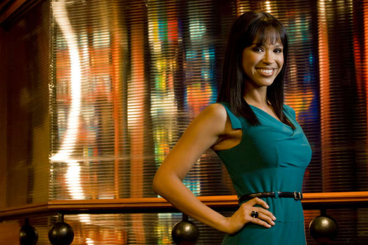 Houston native Mia Gradney has been part of the Channel 39 news team for 10 years. Now, as the prime-time anchor, she is the focus of a billboard campaign to boost the station's ratings.