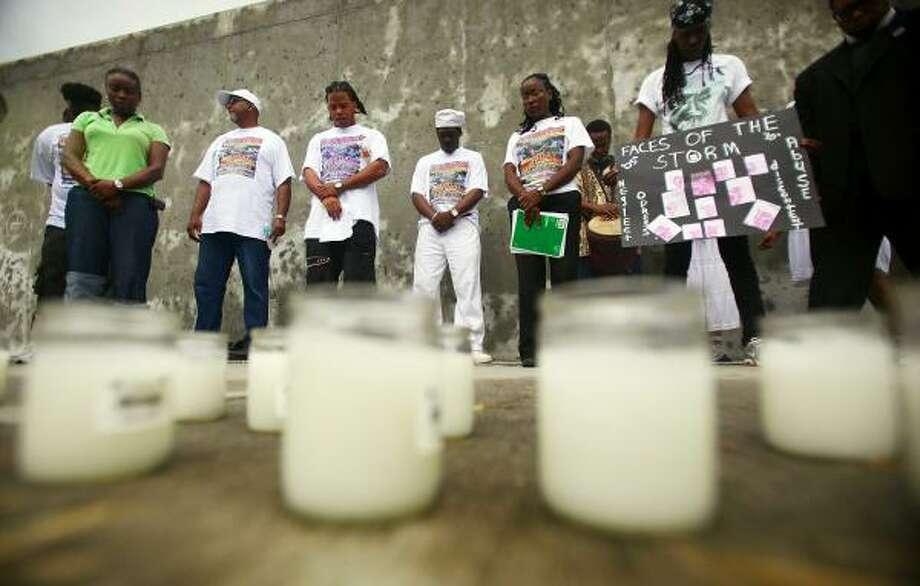 The site of the Lower Ninth Ward levee breach was host to a healing ceremony Sunday in New Orleans. Photo: Mario Tama, Getty Images