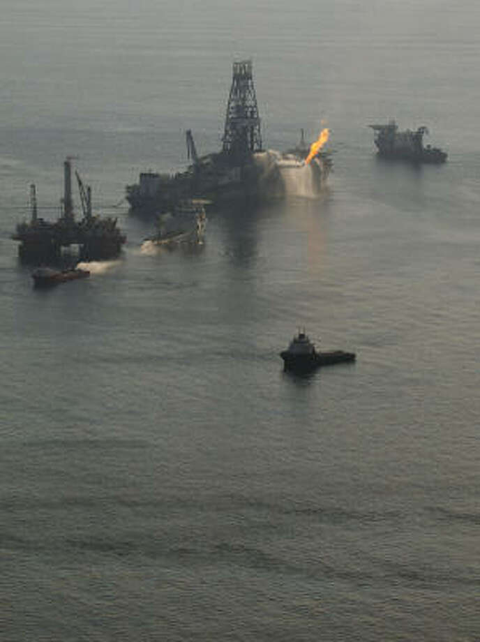 The BP well blowout in April that killed 11 rig workers and stained the Gulf of Mexico with oil was just the latest illustration of the conflict between federal regulation and oversight. Photo: Smiley N. Pool, Chronicle