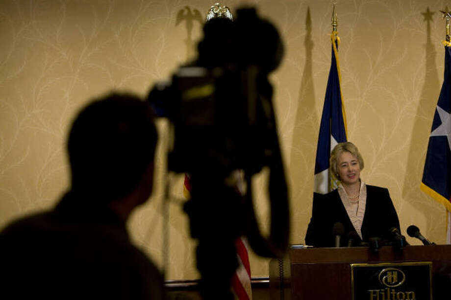 Houston mayoral candidate Annise Parker celebrated her historic win Saturday night, but on Sunday, it was down to business as she laid out her plans for her first months in office. Photo: Johnny Hanson, Chronicle