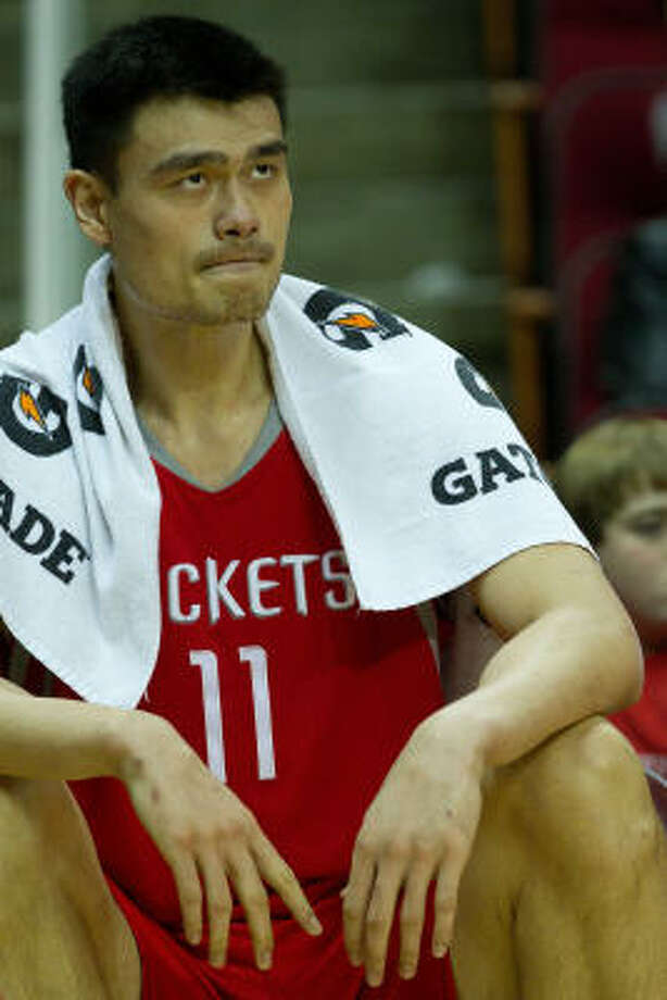 Seven-time All-Star Yao Ming sat out last season after surgery to repair his broken left foot. Photo: Smiley N. Pool, Chronicle