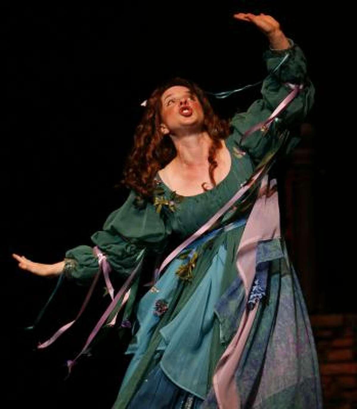 Mad Margaret (Kimberly Fuseilier) isn't crazed, just love-sick, in Gilbert & Sullivan's Ruddygore.