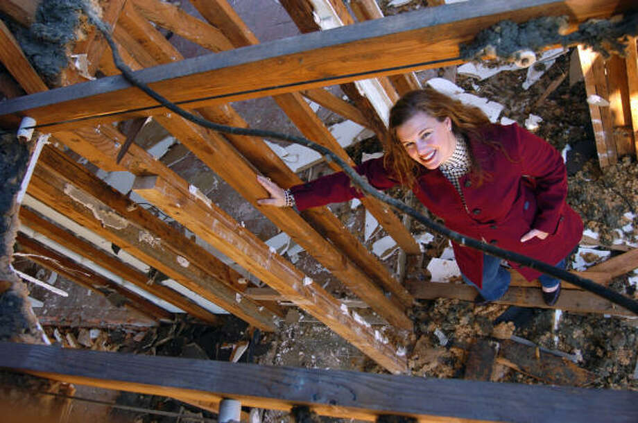 Before rebuilding on the site of a rundown, nothing-special house on Banks Street, owner Karen Lantz discovered that most of the materials could be recycled into new homes. Lantz said just about the only thing that cannot be recycled is the insulation. Photo: CHRIS CURRY, FOR THE CHRONICLE