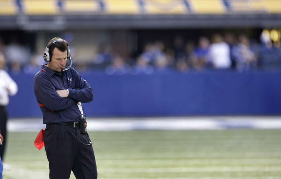 Gary Kubiak has made questionable and uncharacteristic decisions in the previous losses, Jerome Solomon writes. Photo: Brett Coomer, Houston Chronicle