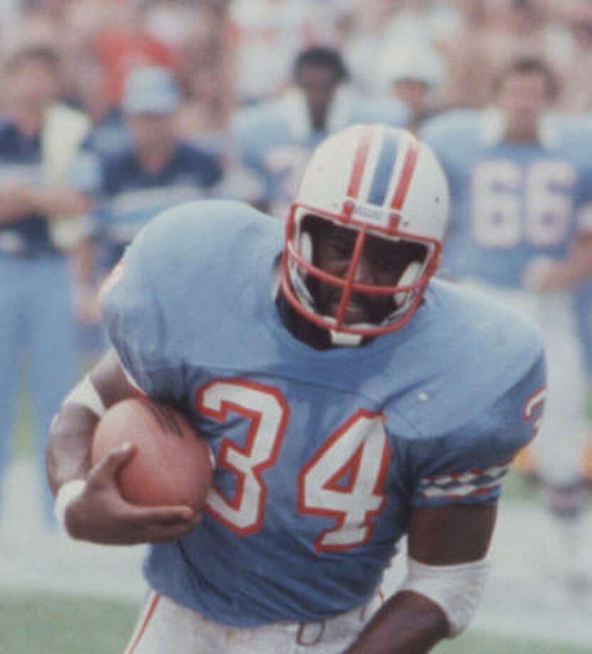 Earl Campbell and the Oilers' upset win at Texas Stadium over the Cowboys in 1979 was a highlight moment for the franchise. Photo: Geary Broadnax, Chronicle