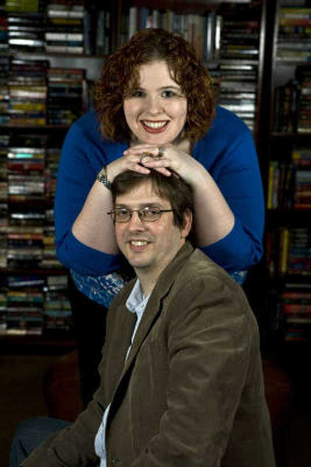 McKenna Jordan and David Thompson fell in love while working at Murder By the Book, the mystery bookstore they now run. Photo: James Nielsen, Chronicle