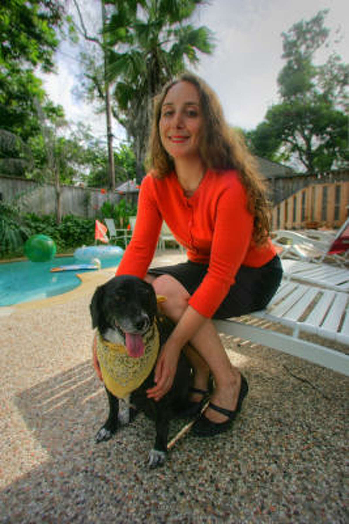 IN THE RUNNING: Kassy Rodriguez and her dog, Dora, need votes to win $500,000 for the renovation of a dog park.