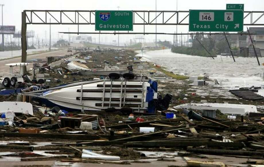 1. Hurricane Ike is the third costliest storm in U.S. history, after Hurricane Katrina in 2005 and Tropical Storm Sandy in 2012. Damage in Texas alone totaled approximately $29.5 billion.  Photo: ERIC KAYNE, CHRONICLE