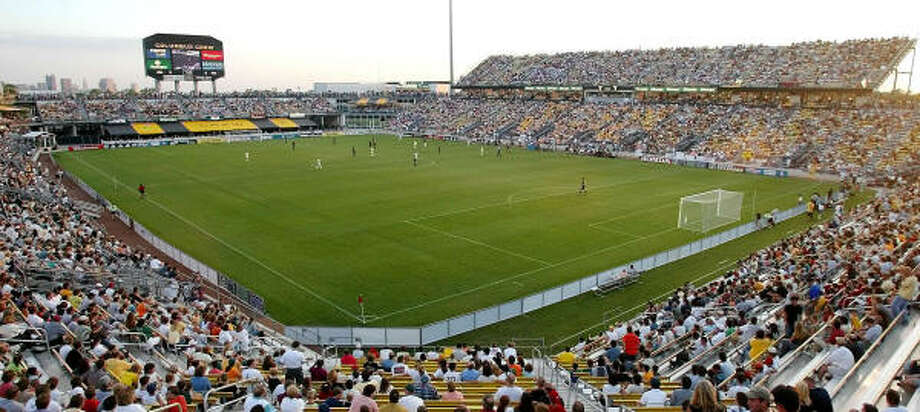 The Dynamo want to catch up with teams such as the Crew and their soccer-only stadium. Photo: JAY LAPRETE, AP