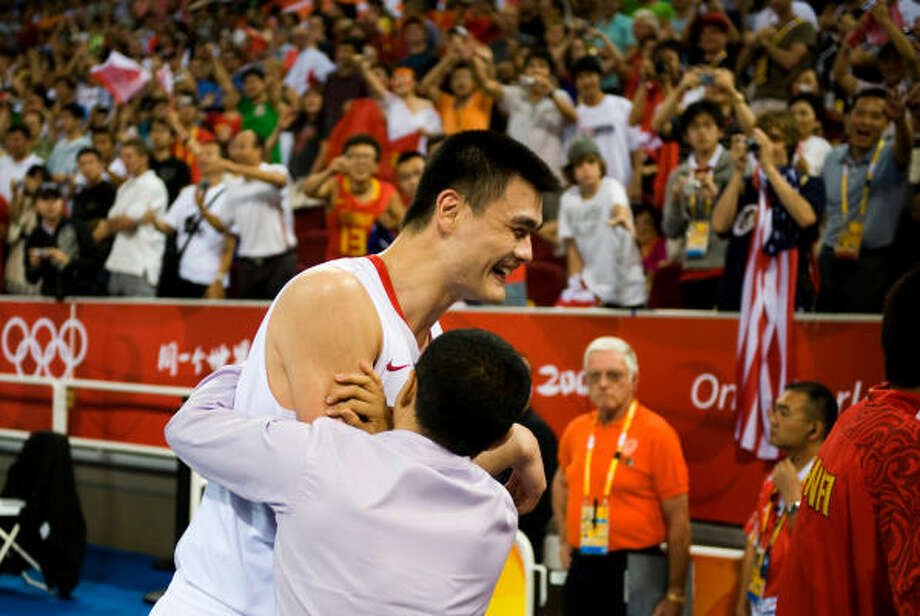 China gets its second win of the tournament. Yao Ming says he thinks the team has more good things ahead of it. Photo: Smiley N. Pool, Chronicle