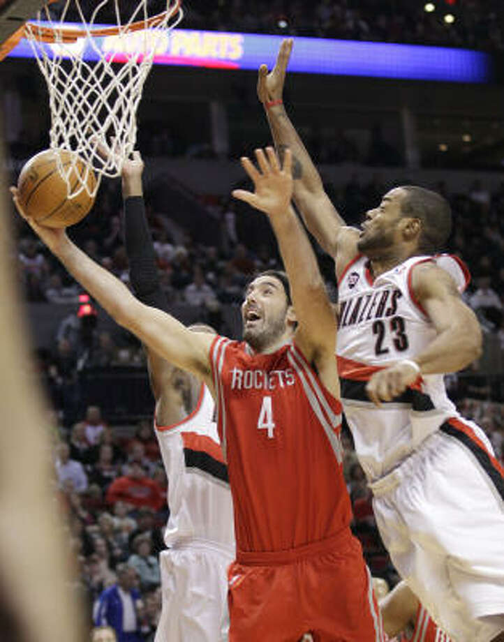 Rockets forward Luis Scola had 21 points and six rebounds in Tuesday night's victory. Photo: Rick Bowmer, AP