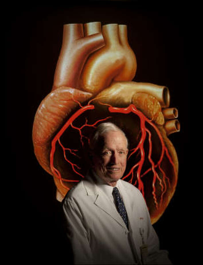 Dr. Denton Cooley, 89, founder of the Texas Heart Institute at St. Luke's Episcopal Hospital, still goes to work five days a week. Photo: ROBERT SEALE
