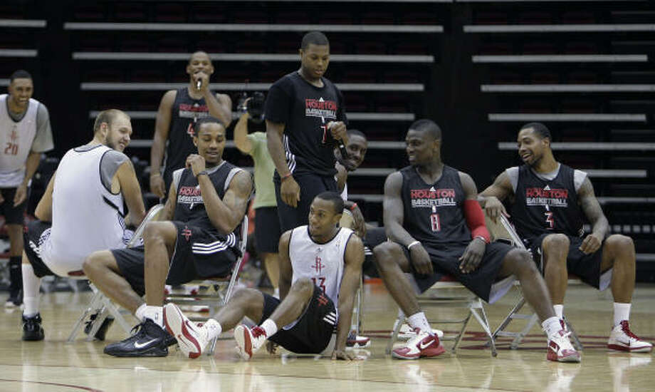 Despite solid depth at the point guard position, the Rockets had their eye on Ish Smith (13) long before the rookie signed a non-guaranteed deal with the team over the summer. Photo: James Nielsen, Houston Chronicle