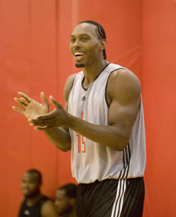 After sitting out the first game of summer league because contract negotiations were not complete, Joey Dorsey and the Rockets reached an agreement to allow him to begin playing on Wednesday. Photo: Bob Levey, For The Chronicle