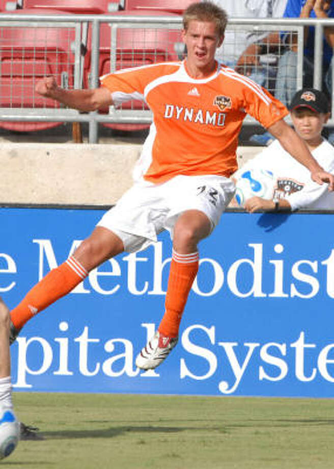 Dynamo fans got a pleasant surprise when reserve midfielder Stuart Holden, 22, got his first senior call-up to join teammates Ricardo Clark, Brad Davis and Eddie Robinson, all of whom have only limited national team experience. Photo: Carlos Javier Sanchez, For The Chronicle