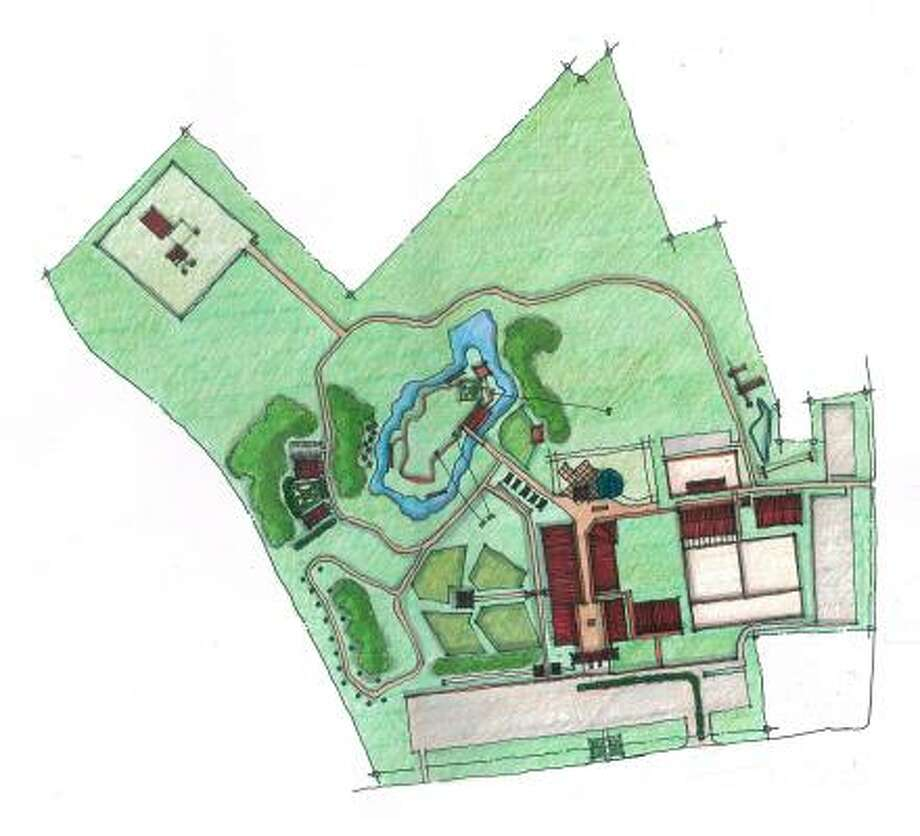 OVERVIEW: The theme park may be built at the northwest corner of Holderrieth and Huffsmith-Korhville roads. Photo: ALL