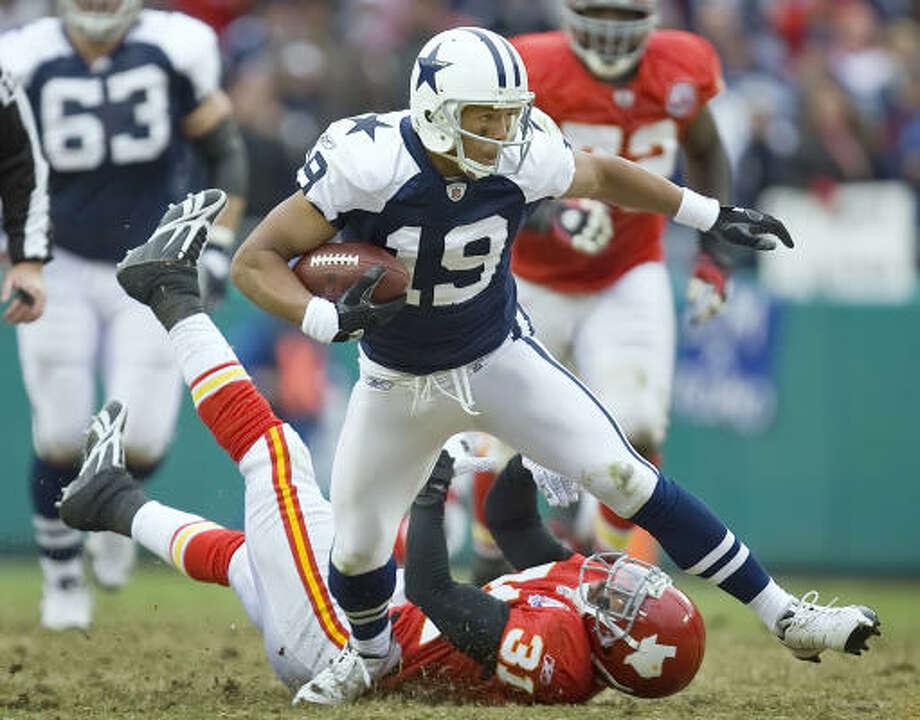 Cowboys receiver Miles Austin has earned more work following his club-record 250-yard performance against Kansas City. Photo: DAVID EULITT