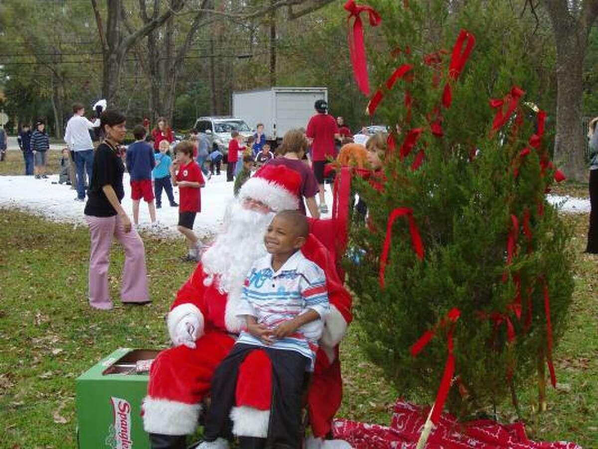 Santa hears requests at Winter Wonderland.
