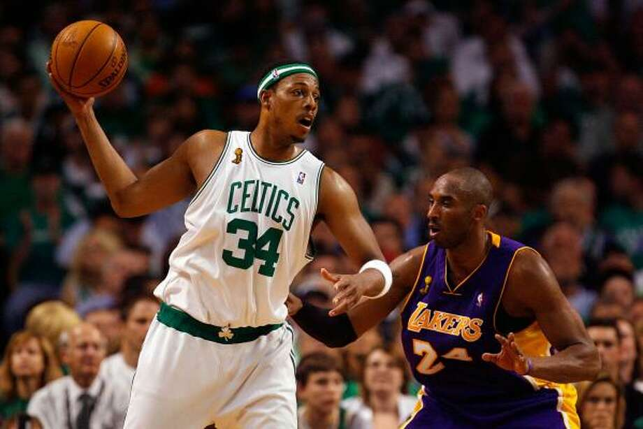 The Celtics and Lakers begin another NBA Finals showdown, the 12th series they have shared. Photo: Jim Rogash, Getty Images