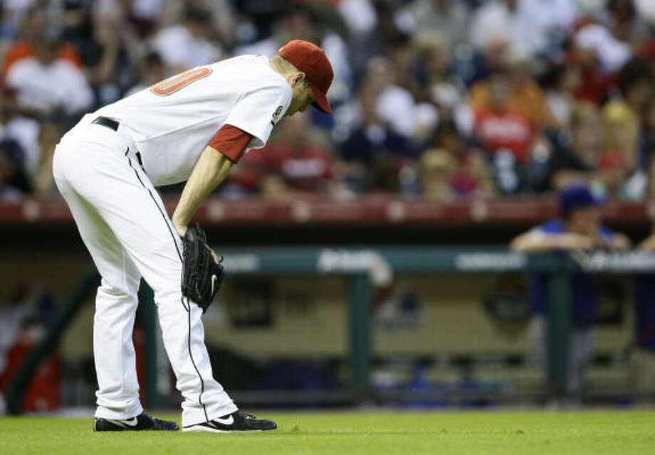 Astros starting pitcher J.A. Happ allowed seven runs in Saturday's loss. Photo: Nick De La Torre, Houston Chronicle