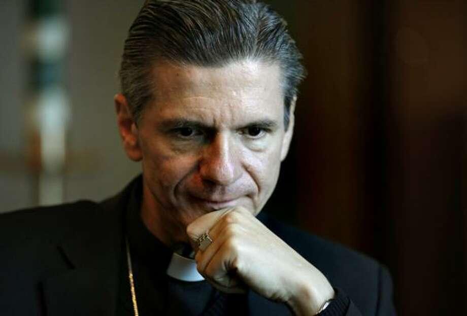 The new Catholic Archbishop for San Antonio is Bishop Gustavo Garcia-Siller of Chicago. Photo: Bob Owen, Express-News