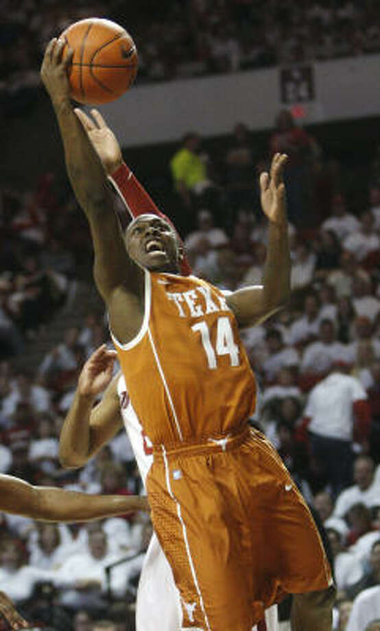 Texas guard J'Covan Brown said a cousin posted offending tweets on his Twitter account after Wednesday's game against Oklahoma. Photo: AP