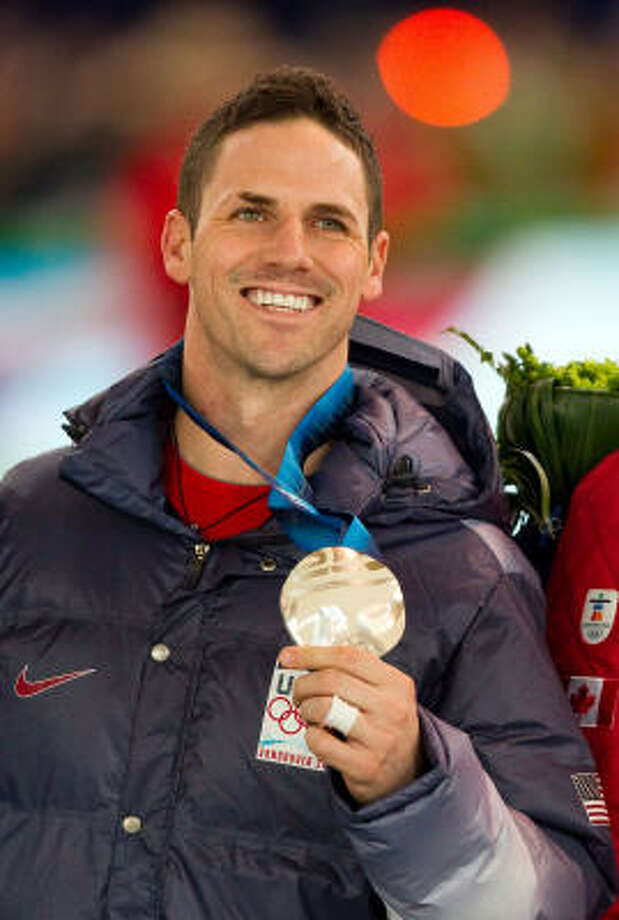Chad Hedrick would like to get a shot at broadcasting, and he hopes to capitalize on his family's sponsorship by Procter & Gamble. Photo: Smiley N. Pool, Chronicle Olympic Bureau