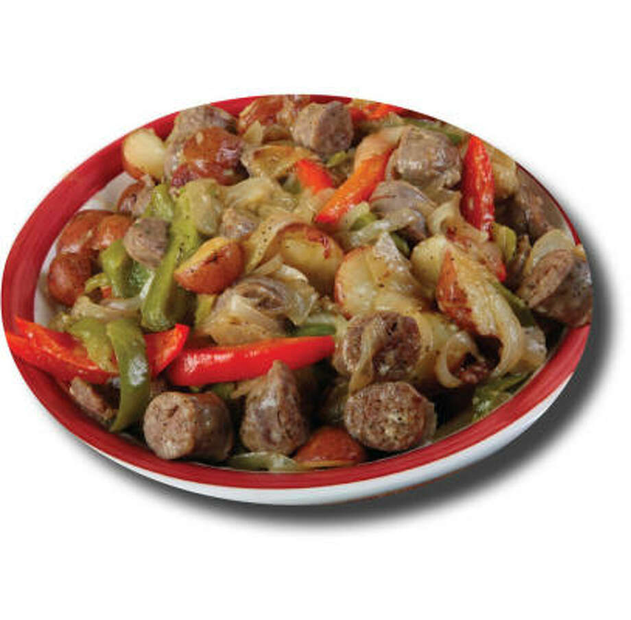 Slow-Cooked Sausage in Beer-Mustard Sauce Photo: National Hot Dog & Sausage Cou