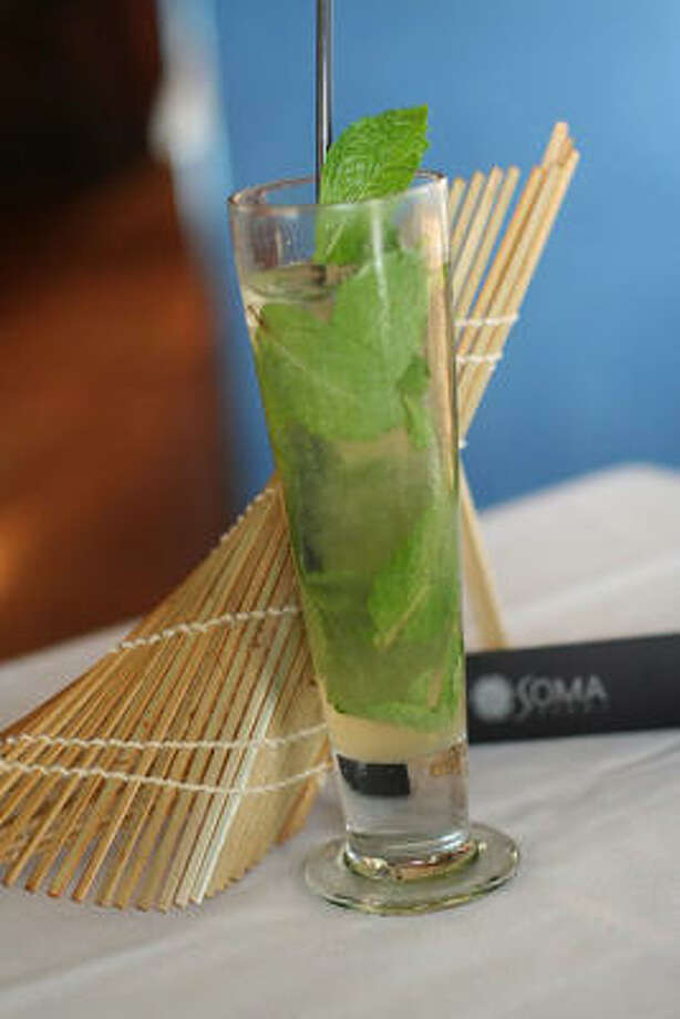 Soma Sushi's  Soma-Jito is made with rum infused with basil, mint and lemongrass. Photo: SOMA SUSHI