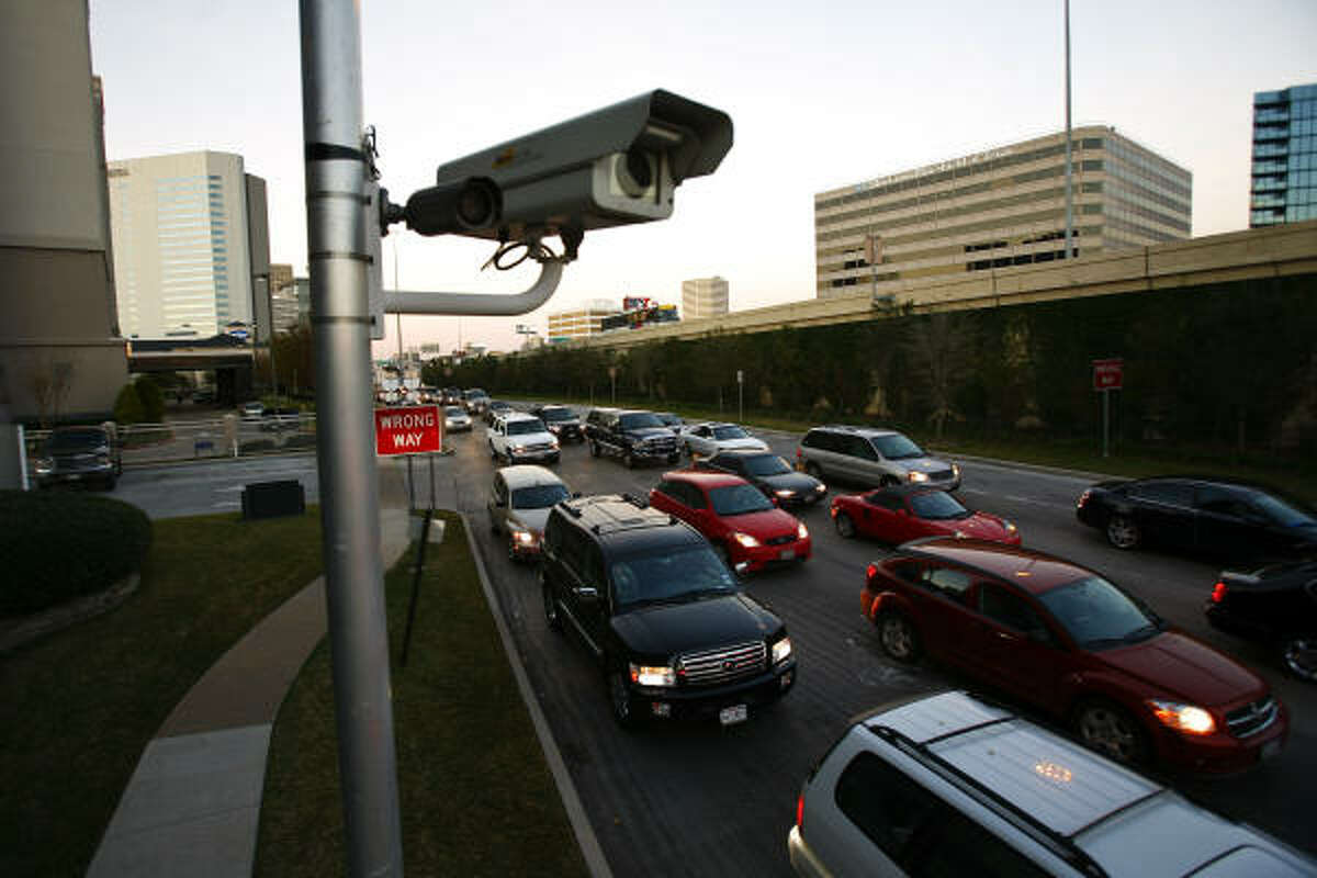 The intersection of Westheimer and the West Loop South is one of 50 across Houston where cameras snap pictures of red-light runners.