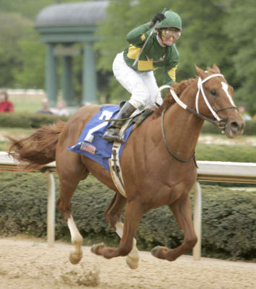 After winning the Arkansas Derby on April 14, Curlin, with jockey Robby Albarado in the irons, could be the favorite for the Kentucky Derby on May 5. Photo: Danny Johnston, AP