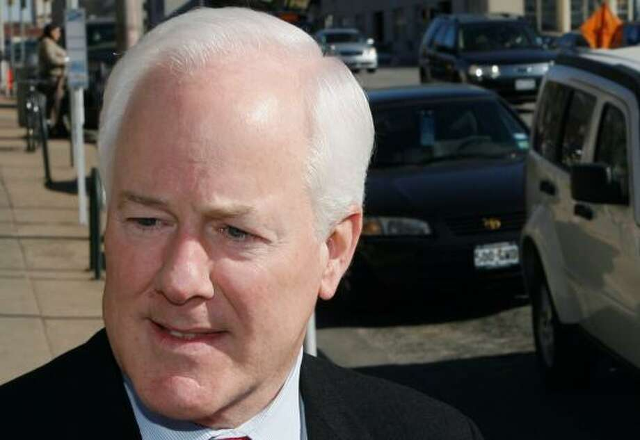 Sen. John Cornyn, left, and Democratic candidate Rick Noriega, right, vie for the U.S. Senate seat in a race that could be close. Photo: HARRY CABLUCK, AP