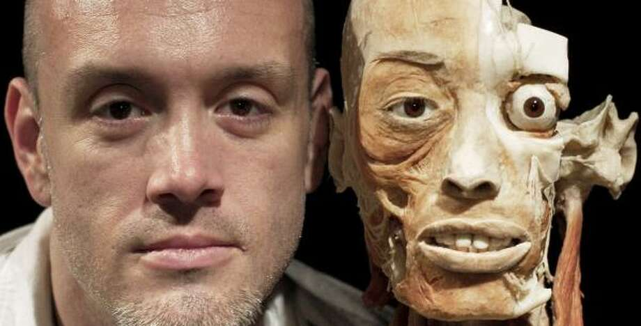Exhibits like this one shown in the controversial Body Worlds show in Dallas persuaded real estate agent Stace Owens, 33, to agree to allow his plastinated body to be displayed after his death. Photo: THOMAS PEIPERT, AP