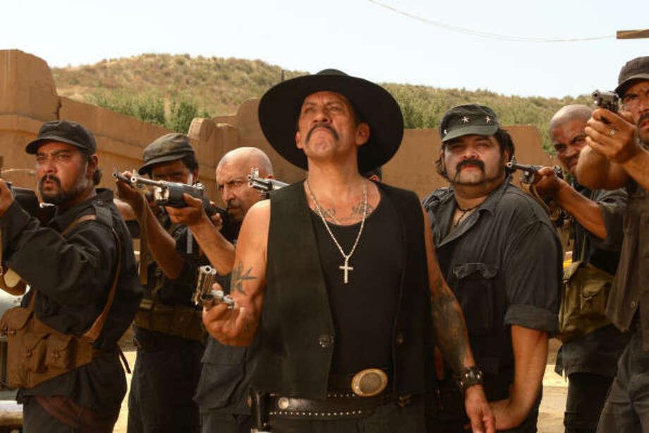 Carlos Santana (Danny Trejo) threatens our heroes, in Delta Farce. Photo: Sam Urdank